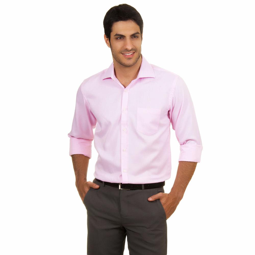 camisa masculina rosa beb social   camisaria colombo