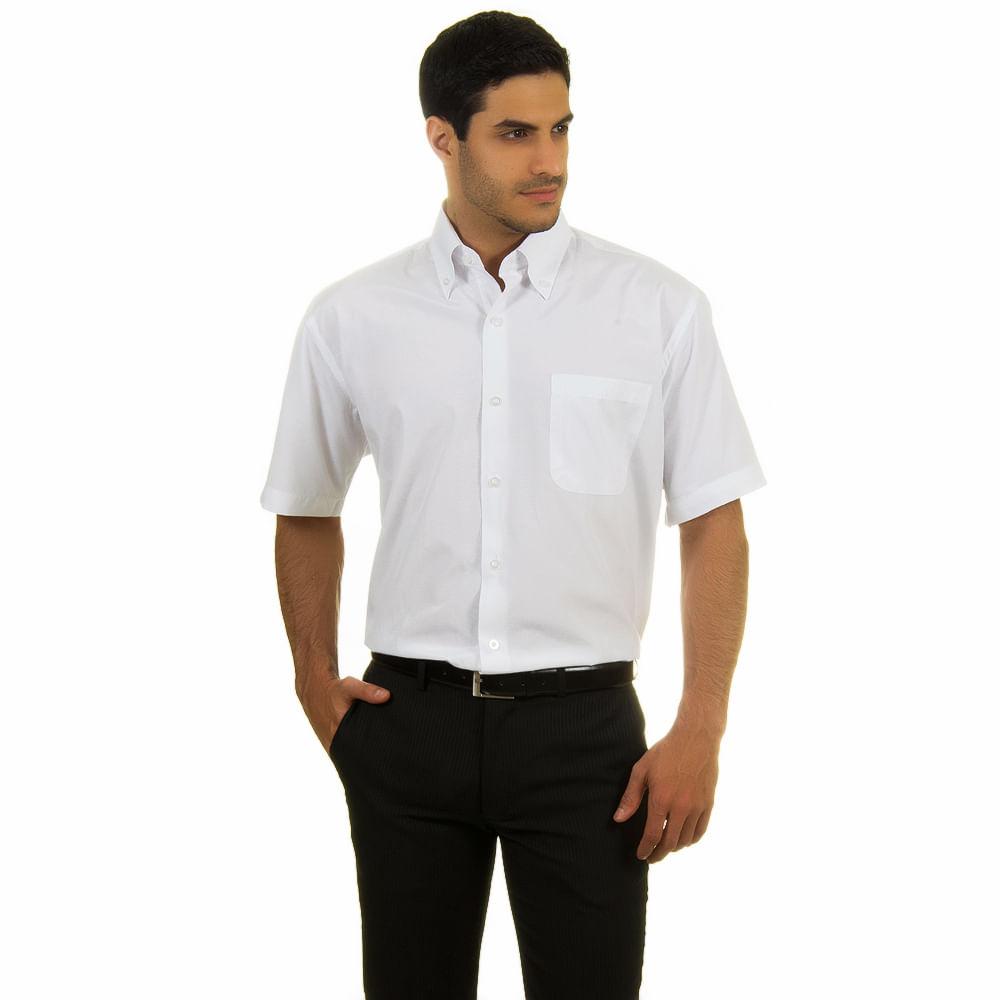 camisa social masculina branca lisa   camisaria colombo