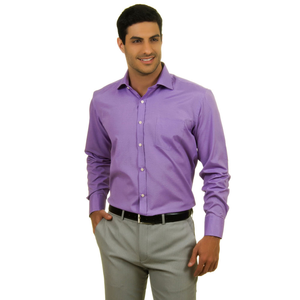 camisa social masculina lil s escuro   camisaria colombo