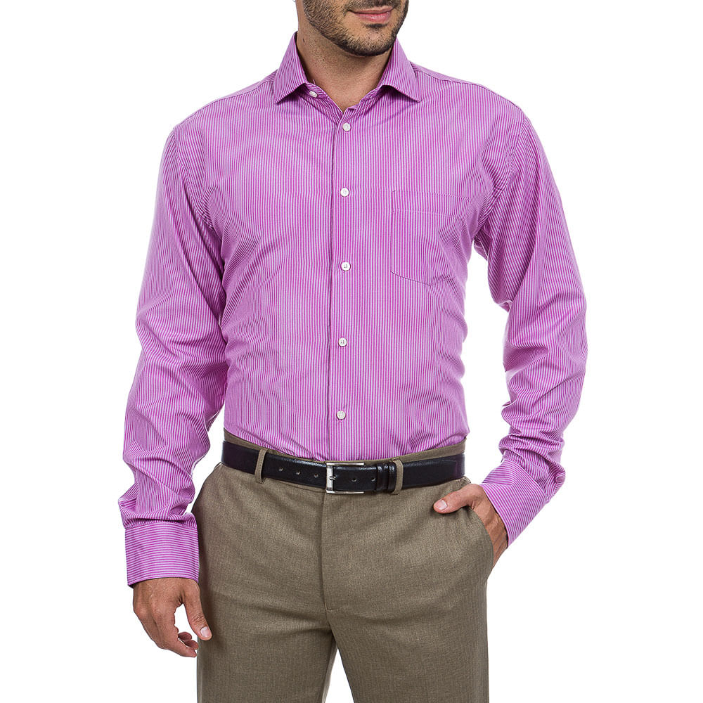 camisa social masculina lil s listrada   camisaria colombo