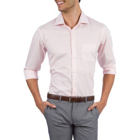 Camisa Social Masculina Rosa Lisa Upper