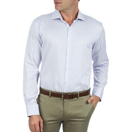Camisa Social Masculina Lilás Xadrez Upper