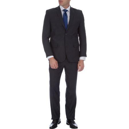 Terno Masculino Cinza Risca de Giz