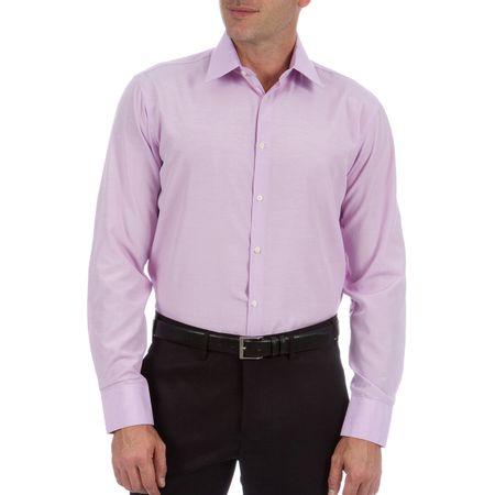 Camisa Social Masculina Lilás Lisa