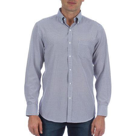 Camisa Social Masculina Azul Xadrez