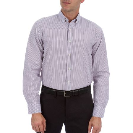 Camisa Social Masculina Marrom Listrada