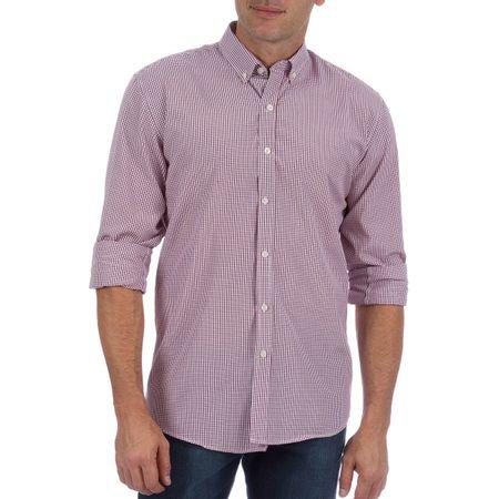 Camisa Social Masculina Vinho Xadrez