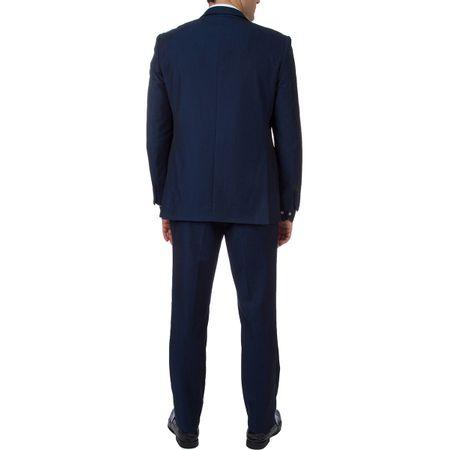 Terno Masculino Azul Liso
