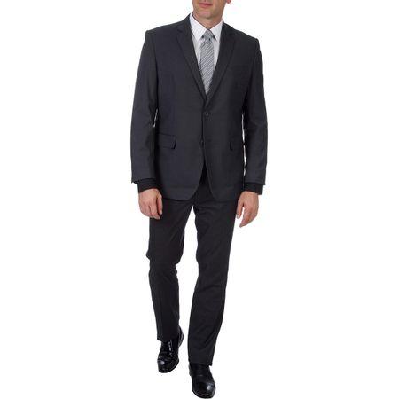 Terno Masculino Cinza Escuro Liso
