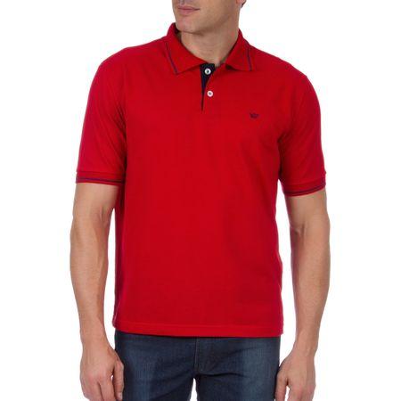 Camisa Polo Masculina Vermelha com Detalhe