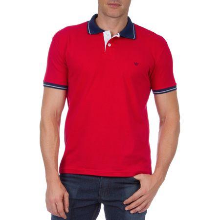 Camisa Polo Masculina Vermelha Lisa