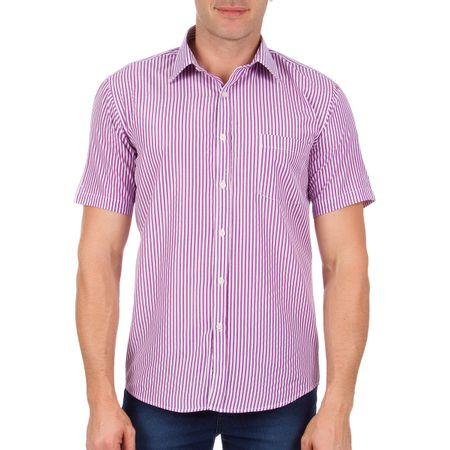 Camisa Social Masculina Roxa Listrada