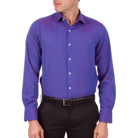 Camisa Social Masculina Roxa Texturizada