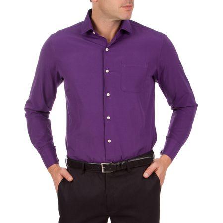 Camisa Social Masculina Roxa Lisa