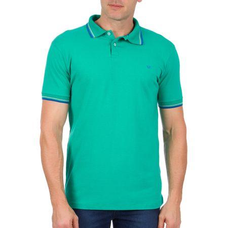 Camisa Polo Masculina Verde com Detalhe