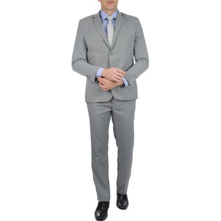 Terno Masculino Cinza Texturizado