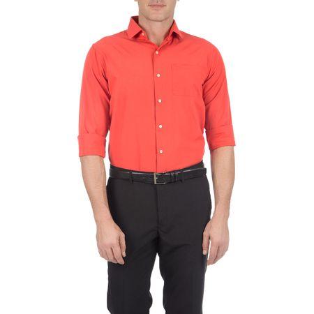 Camisa Social Masculina Laranja Lisa