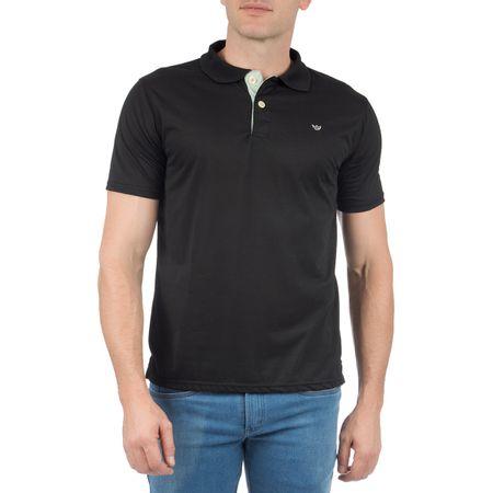 Camisa Polo Masculina Preta com Detalhe