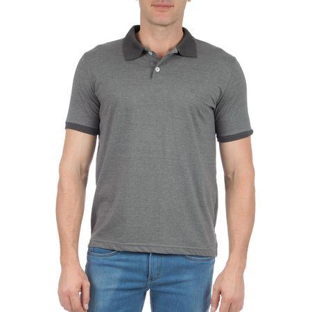 Camisa Polo Masculina Chumbo com Detalhe