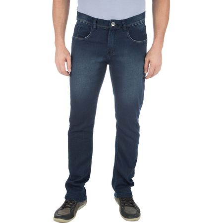 Calça Masculina Jeans em Moletom Azul