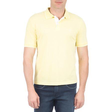 Camisa Polo Masculina Amarela com Detalhe