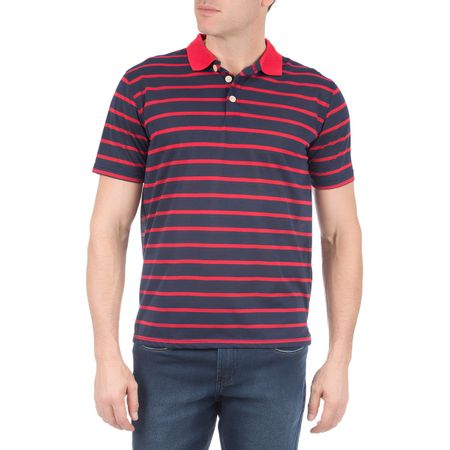 Camisa Polo Masculina Vermelha Listrada