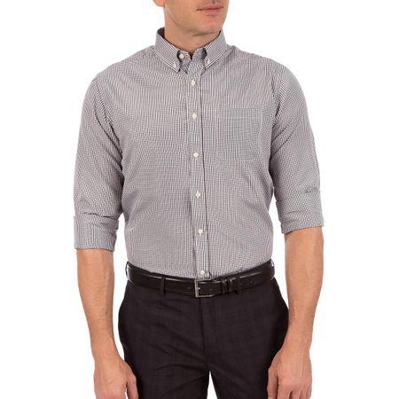 Camisa Masculina Preta Xadrez