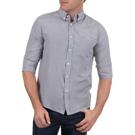 Camisa Social Masculina Preta Xadrez