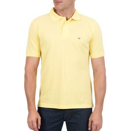 Camisa Polo Masculina Amarela Lisa