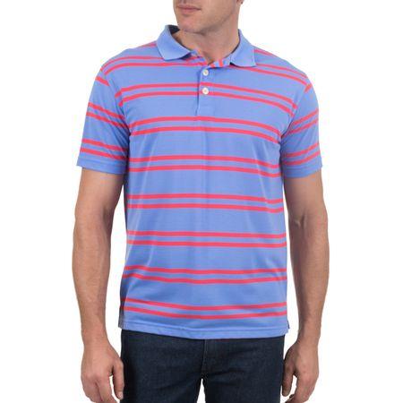 Camisa Polo Masculina Azul Listrada
