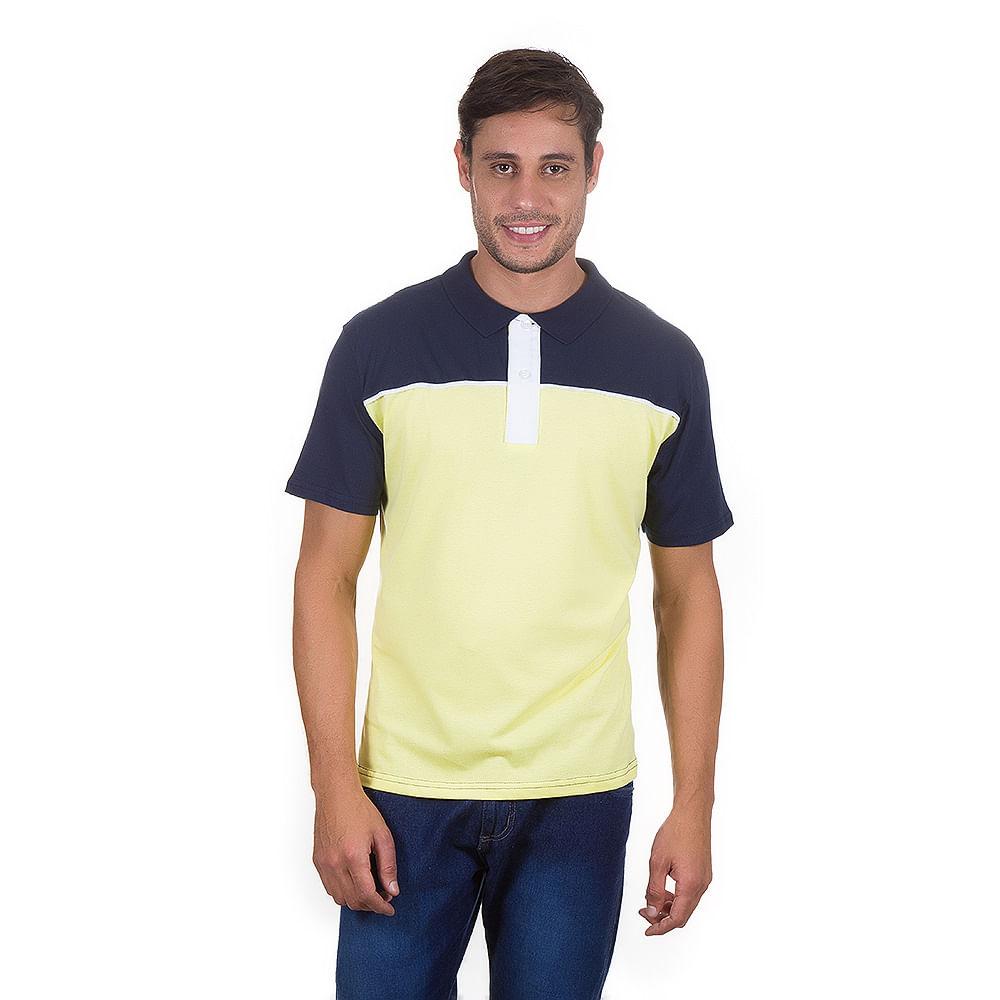 PRODUTO ADICIONADO A SACOLA. Camisa Polo Masculina Azul e Amarela 6151c86911b70