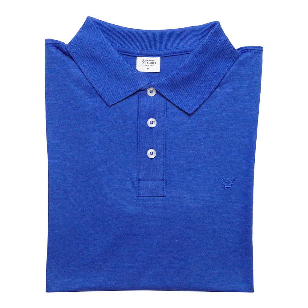 Camisa Polo Masculina Azul Marinho Lisa - Camisaria Colombo 9c55a6f537c55