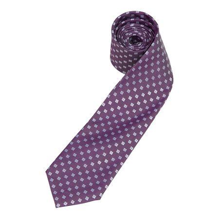 Gravata Masculina Roxa  Estampada