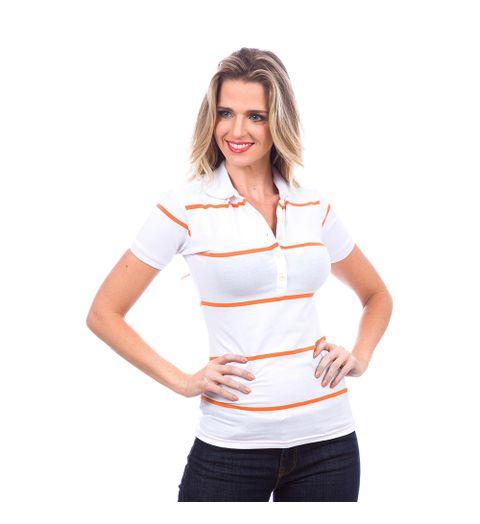 adb6bf08d491b Camisa Polo Feminina Branca Listrada - Camisaria Colombo