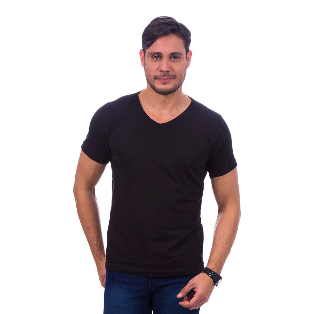 PRODUTO ADICIONADO A SACOLA. Camiseta Masculina Preta Lisa d5515dcd7daad