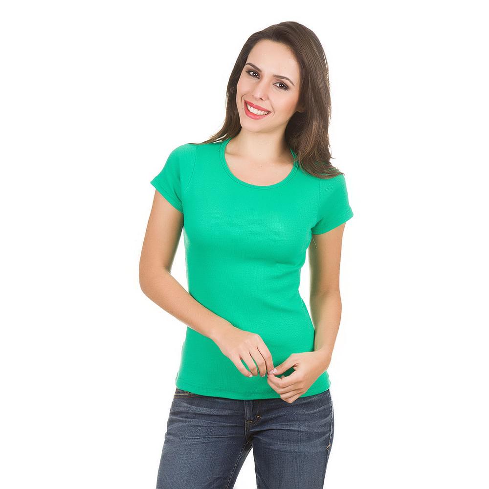 Camiseta Feminina Verde Lisa 4d17d00754c65