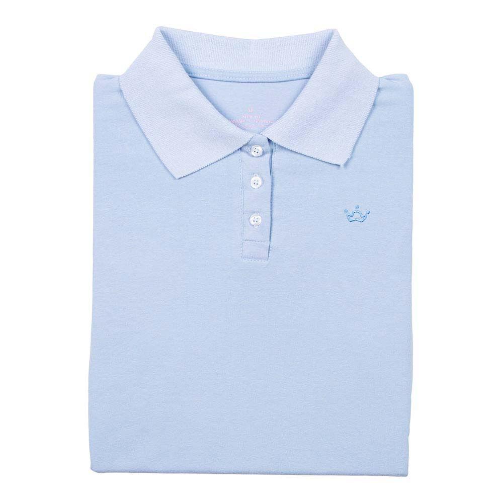 c6ef1a0434 PRODUTO ADICIONADO A SACOLA. Camisa Polo Feminina Azul ...