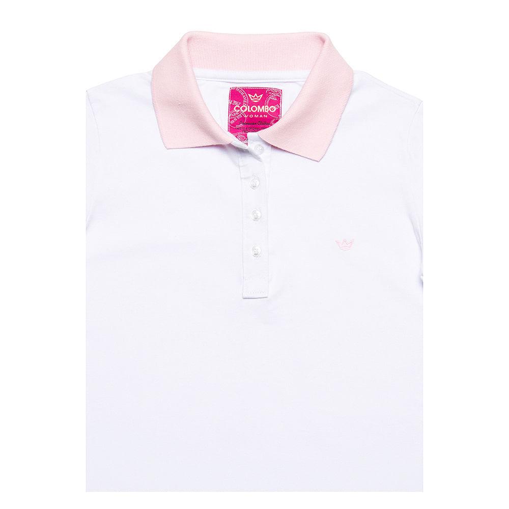 4c787e5c7f PRODUTO ADICIONADO A SACOLA. Camisa Polo Feminina Branca Lisa