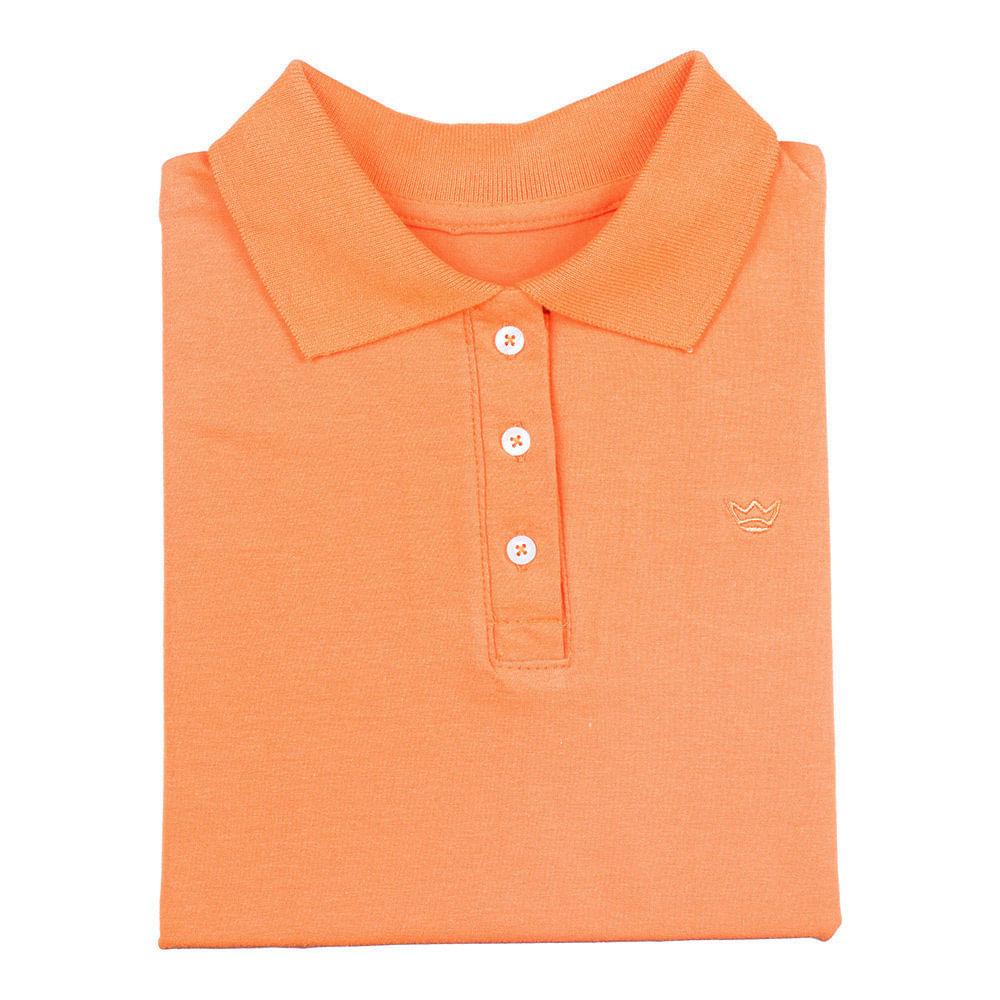 21594967ee PRODUTO ADICIONADO A SACOLA. Camisa Polo Feminina Laranja Lisa