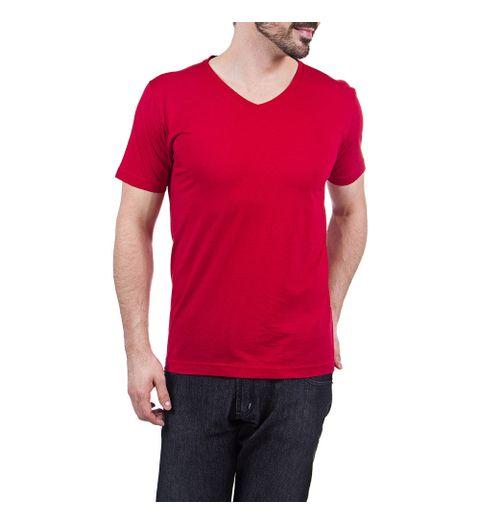 aa7ab69737 Roupas - Masculino - Camiseta Gola V Vermelho – vmob2