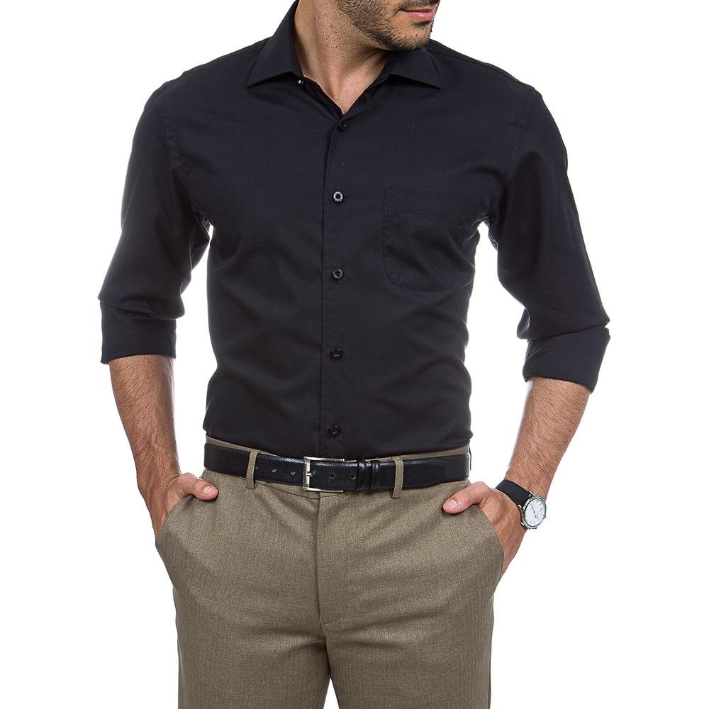 PRODUTO ADICIONADO A SACOLA. Camisa Social Masculina Preta ... a21acbdee78a4