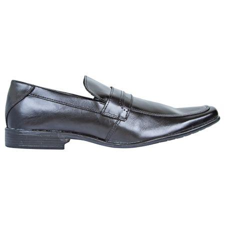 Sapato Social de Couro Masculino Preto Upper