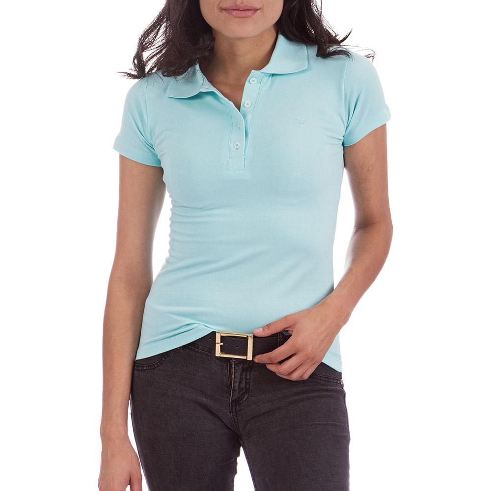 a99ae2ad22 Camisa Polo Feminina Verde Lisa
