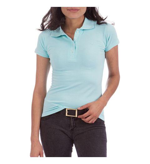 Camisa Polo Feminina Verde Lisa 3d4d8d0aeb68d