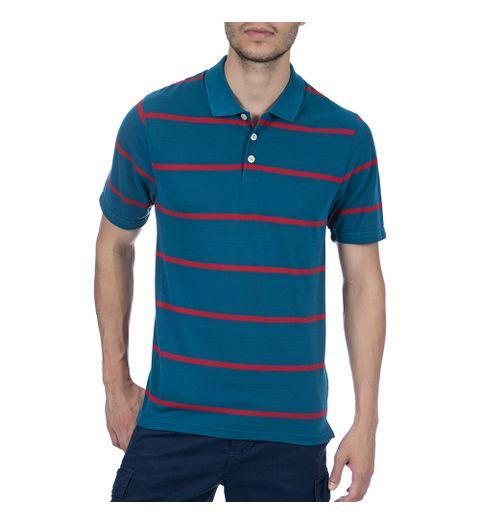 camisa polo masculina verde listrada p - Camisaria Colombo  b6270e4905a0d