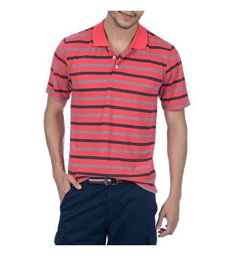 Camisa Polo Masculina Laranja Listrada - Camisaria Colombo d923f5ef2c45d
