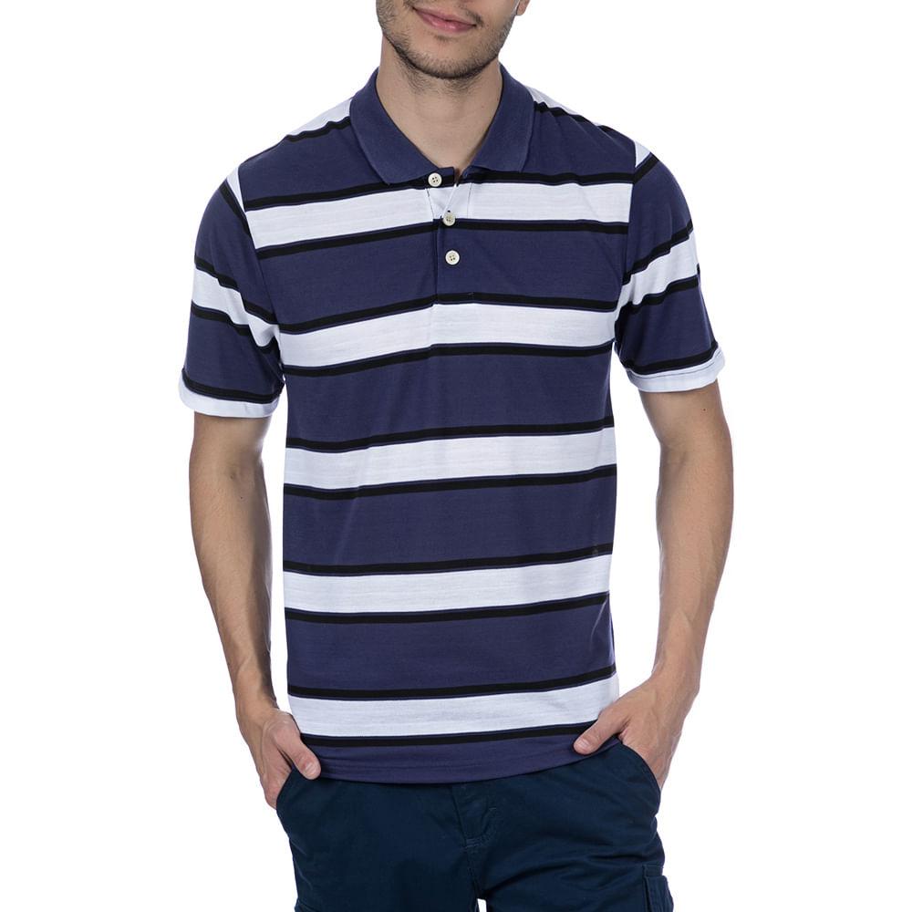 26db832be3 Camisa Polo Masculina Roxa Listrada - Camisaria Colombo