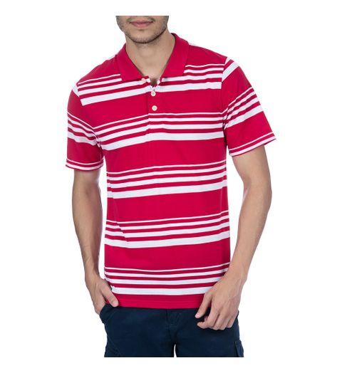 cdab9ec279 Camisa Polo Masculina Vermelha Listrada - Camisaria Colombo