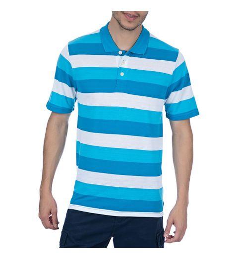 Camisa Polo Masculina Azul Listrada - Camisaria Colombo 95a2b063bea5f