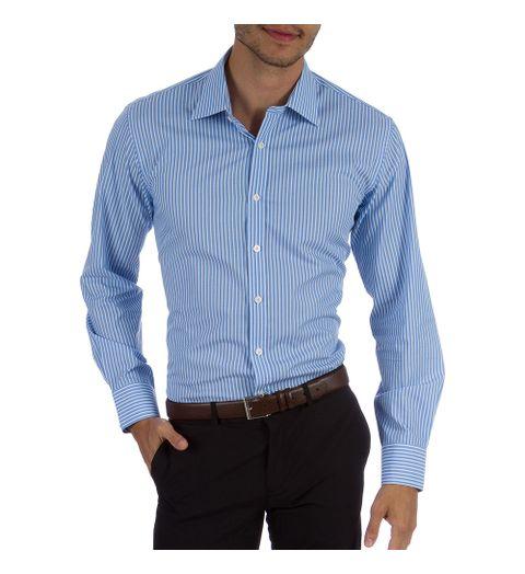 Camisa Social Masculina Upper Azul Listrada - Camisaria Colombo f4e95585b6123